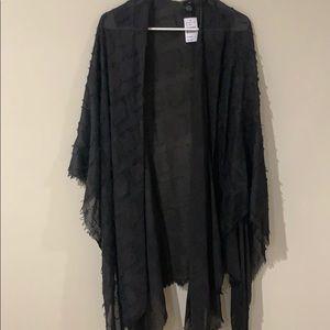 Tops - Mid-Length Faded Black Shawl (NWT)